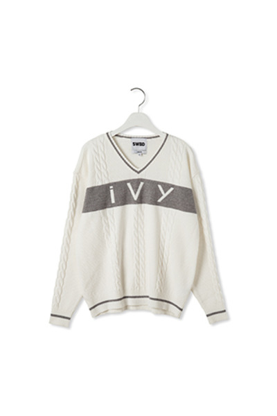 IVY V NECK KNIT(WH)