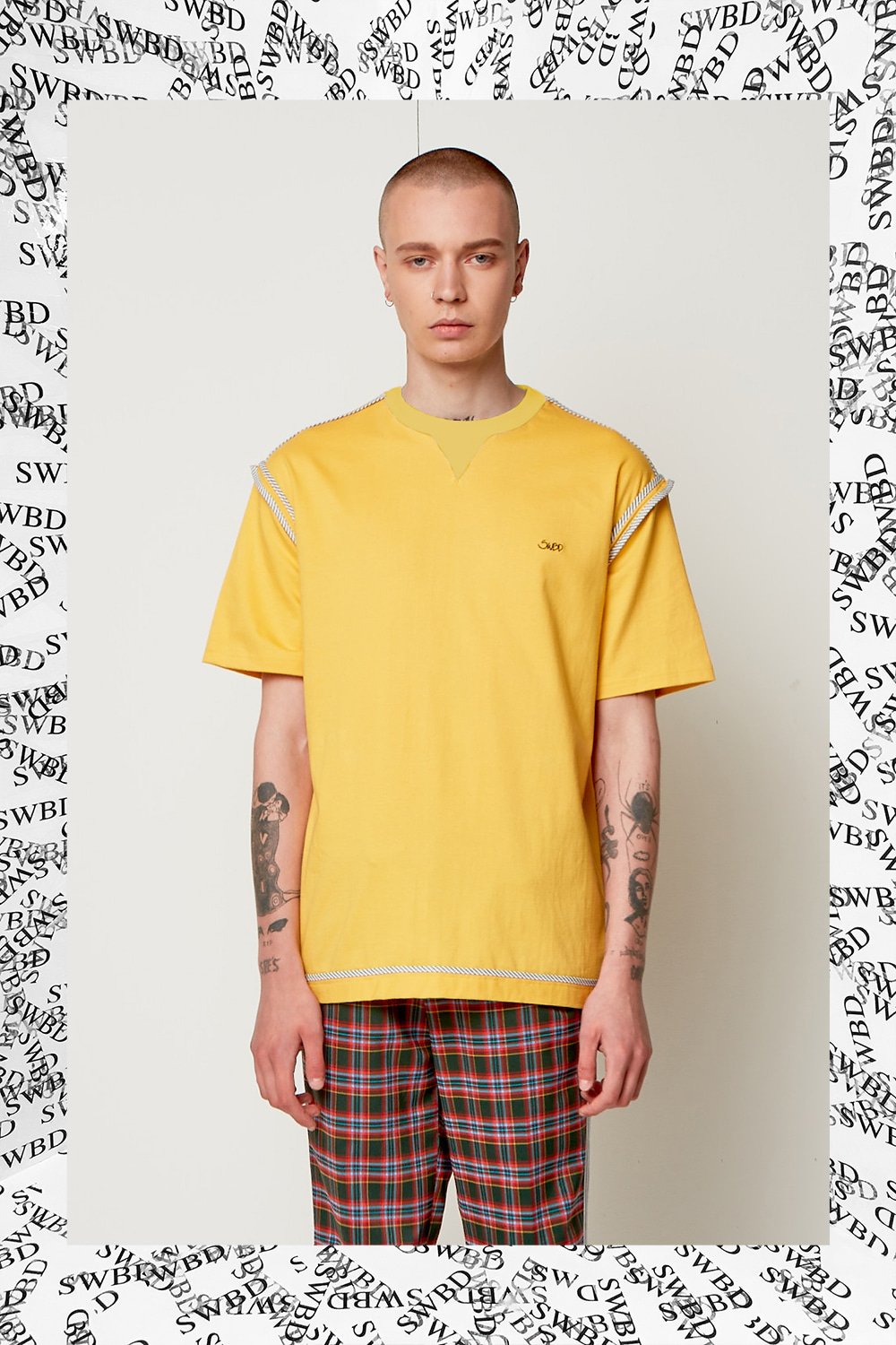 TAPE SWBD TEE YELLOW