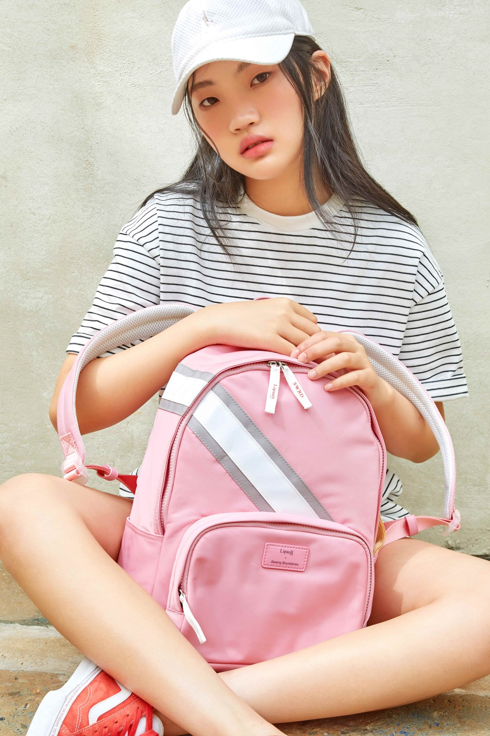 [9/12예약배송] PLUME BASIC SWBD ROUND BACKPACK PINK