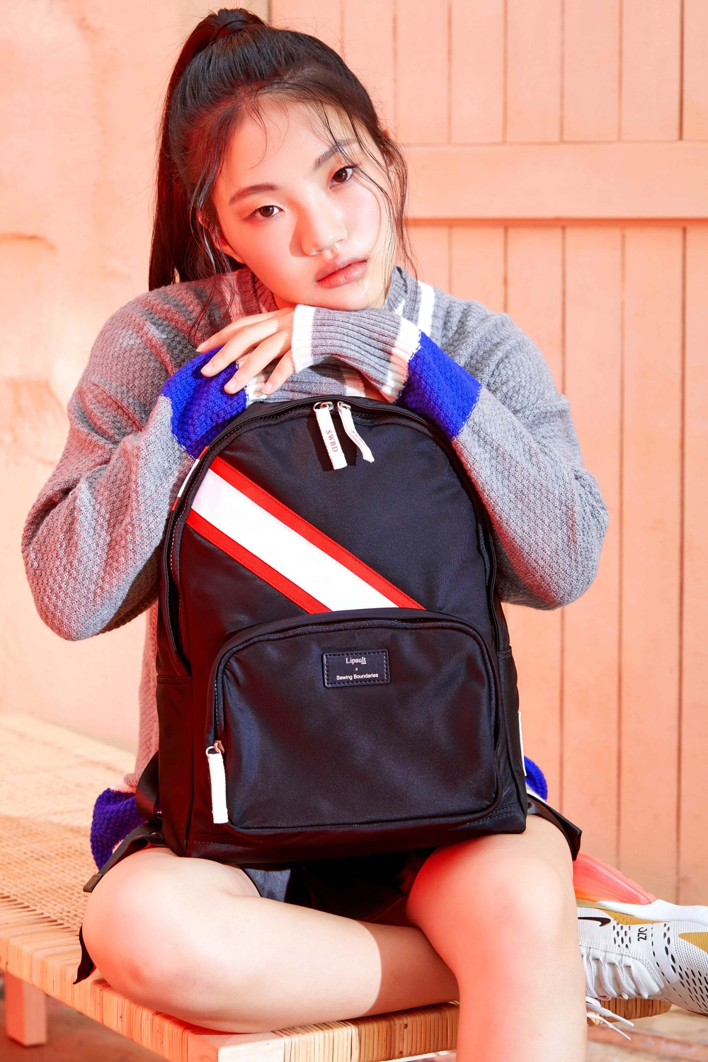 PLUME BASIC SWBD ROUND BACKPACK BLACK