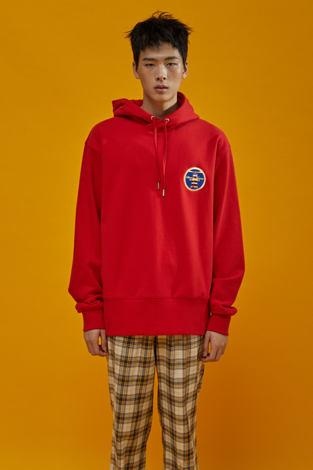 [시즌오프30%] MOONRISE BASIC HOODIE RED