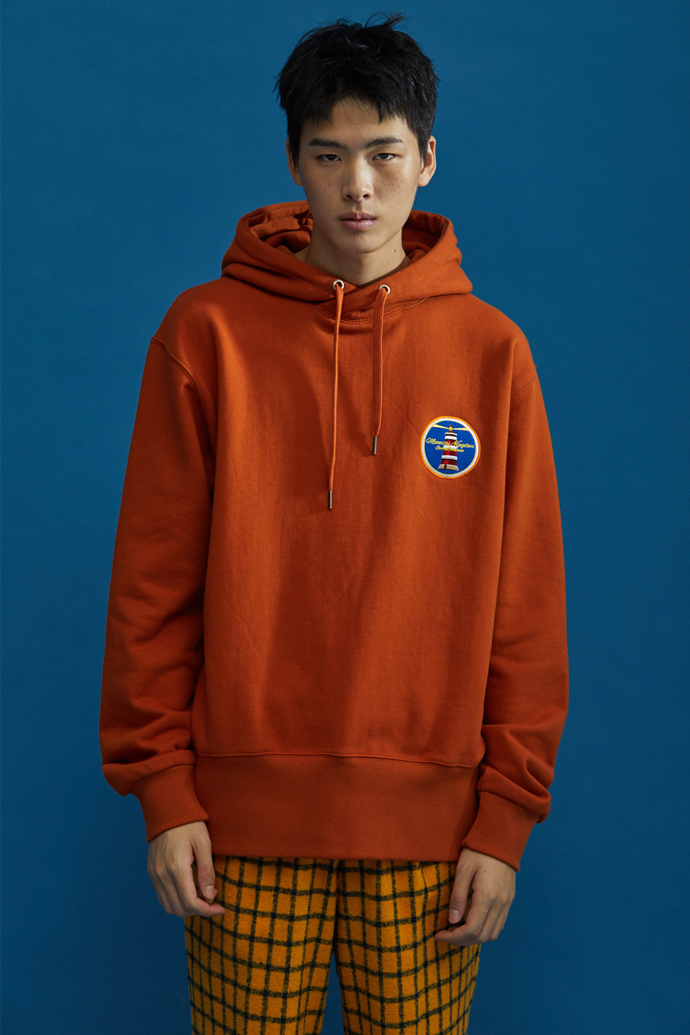 [10/10예약배송]MOONRISE BASIC HOODIE ORANGE