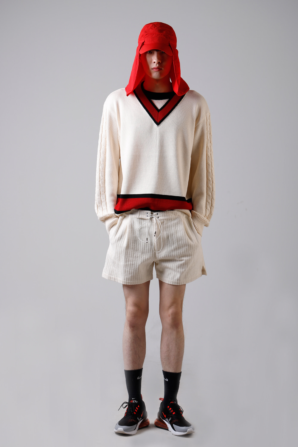 COLOR DOUBLE NECK KNIT (IVORY)
