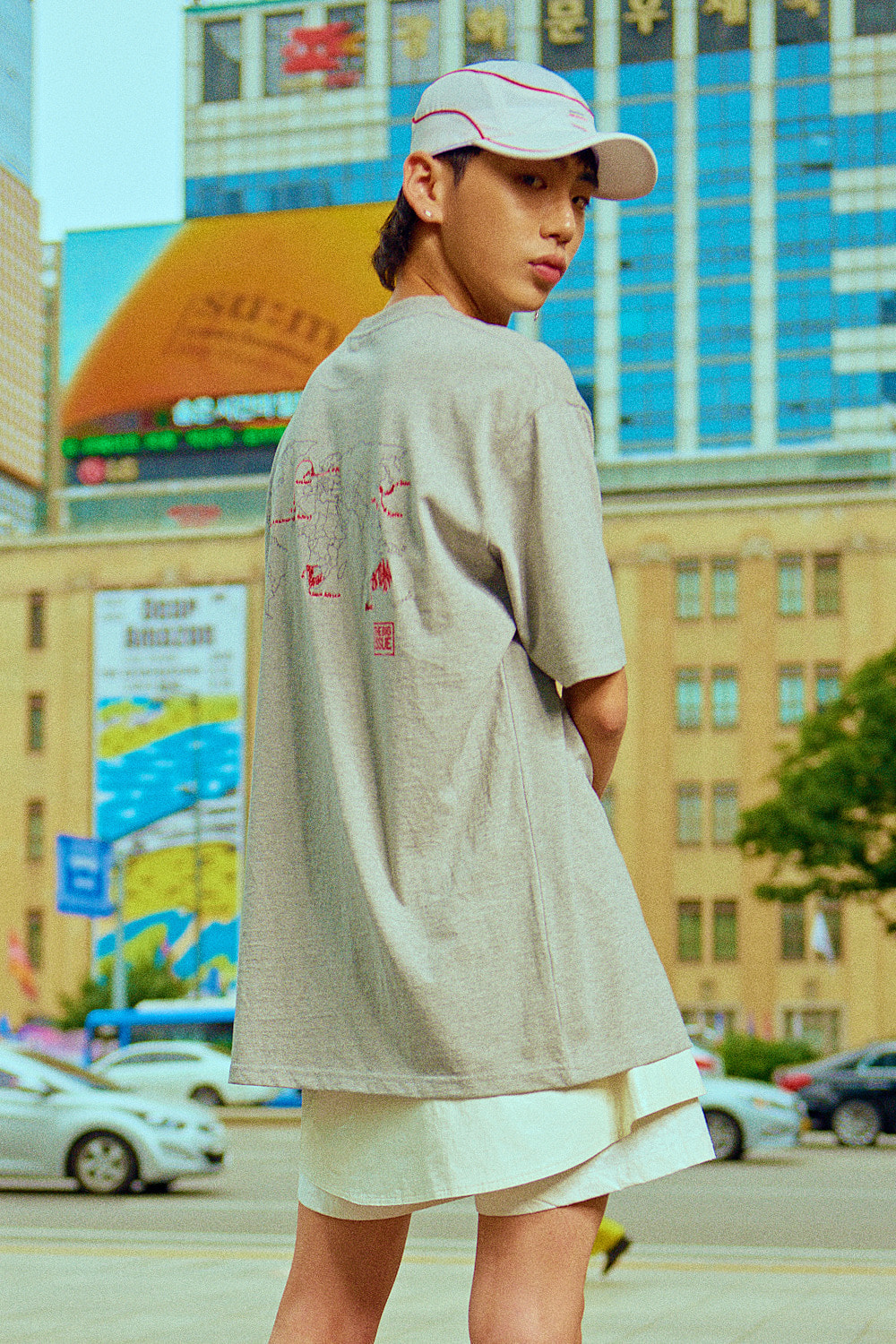 SWBD X BIG ISSUE MAP T-SHIRT (GRAY)