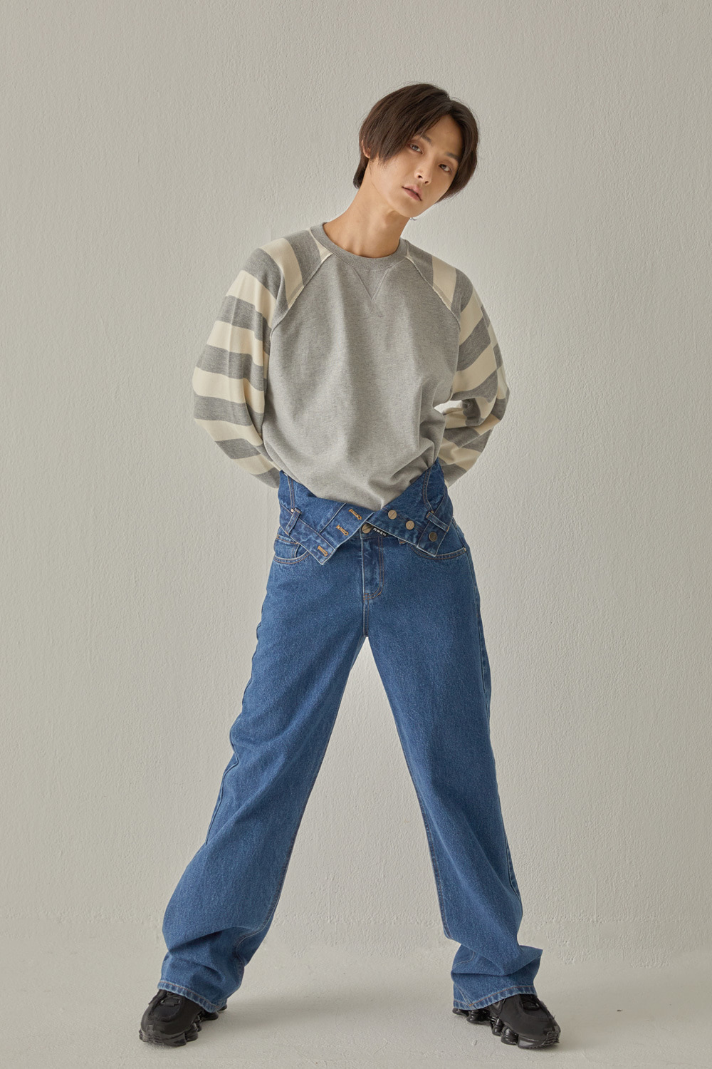 TWO WAY DENIM PANTS (BLUE)