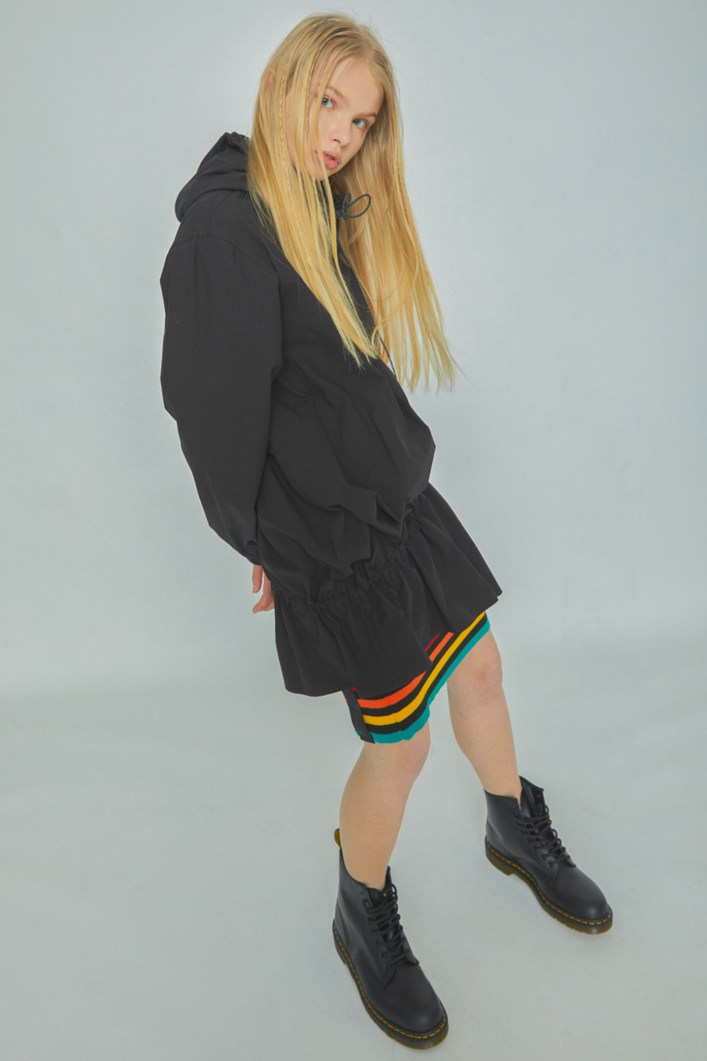MODS LOGO HOODIE ONE PIECE (BLACK)