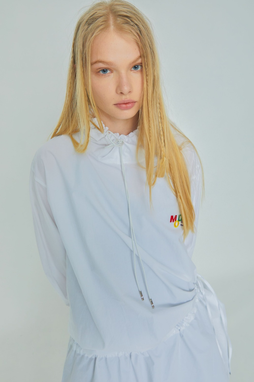 MODS LOGO HOODIE ONE PIECE (WHITE)