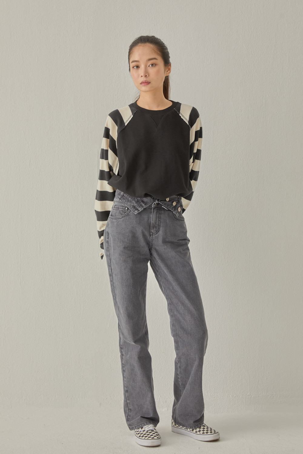 TWO WAY DENIM PANTS (GRAY)