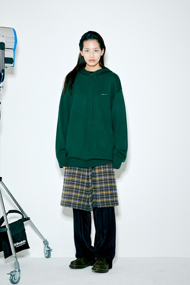 SWBD PIPING POINT KNIT HOODIE GREEN